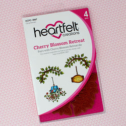 Heartfelt Creations -  Cherry blossom retreat stamp and die bundle