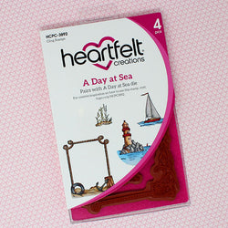 Heartfelt Creations -  Sea breeze - A day at sea stamp and die set