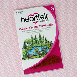 Heartfelt Creations -Wilderness - Trout lake stamp and die set