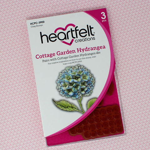 Heartfelt Creations cottage garden hydrangea stamp and die set WITH MOULD
