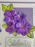Heartfelt Creations - Classic petunia small - stamp and die set