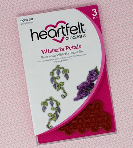 Heartfelt Creations wisteria petals stamp and die set