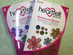 Heartfelt Creations - Buttons and blooms patchwork stamp and die bundle - SAVE 30%