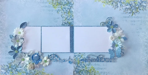 Forget-me-not double page scrapbook kit