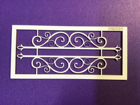 The Purple Magnolia chipboard PM021 Swirly banner