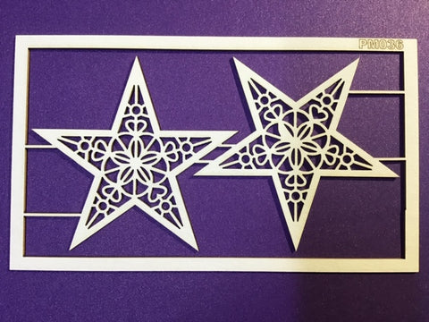The Purple Magnolia chipboard PM036 Christmas star