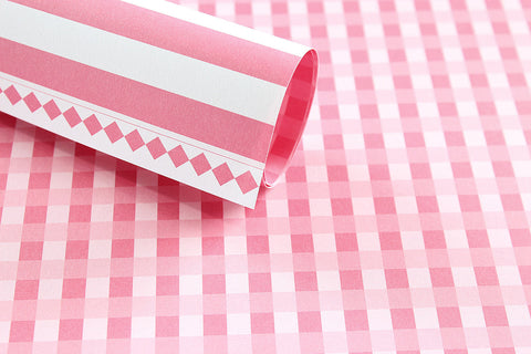 LPP 0011 Basic Essentials Gingham -Pink mary