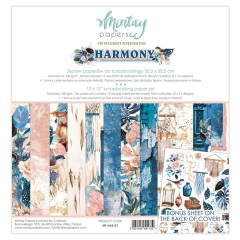Mintay Harmony paper pack 12x12