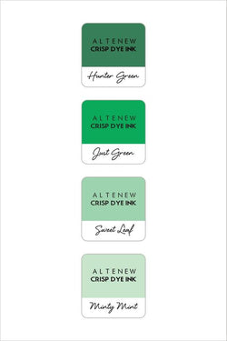 Altenew ink cube set of 4 - Green meadow