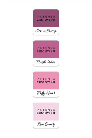 Altenew ink cube set of 4 - Rose petal
