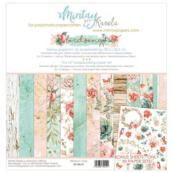 Mintay Birdsong paper pack 12x12