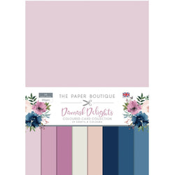 Paper Boutique - Coloured card - Damask delights A4