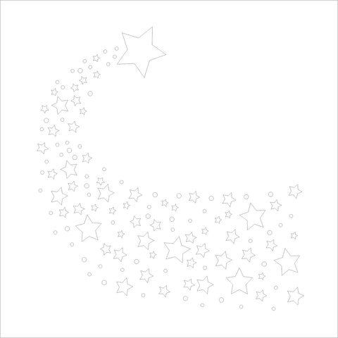 The Purple Magnolia stencil - PM-S003 Shower of stars
