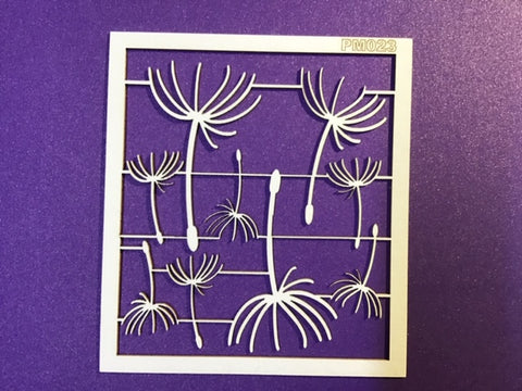The Purple Magnolia chipboard PM023 dandelions