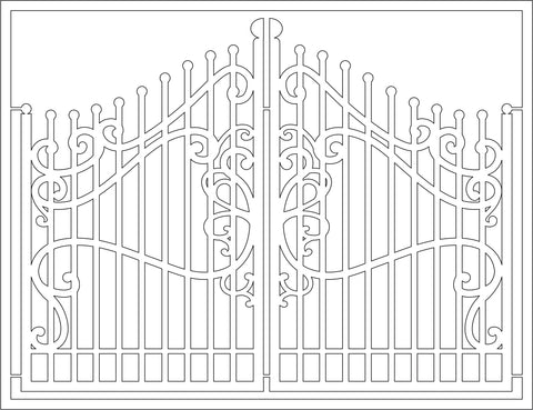 The Purple Magnolia chipboard PM027 Cast iron gate