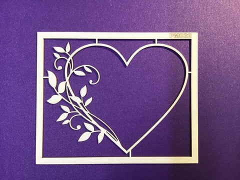 The Purple Magnolia chipboard PM032 Swirls on heart