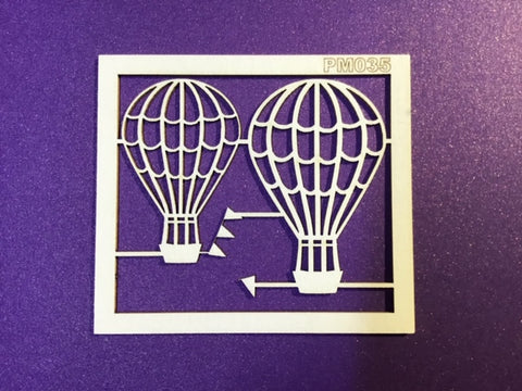 The Purple Magnolia chipboard PM035  air balloon