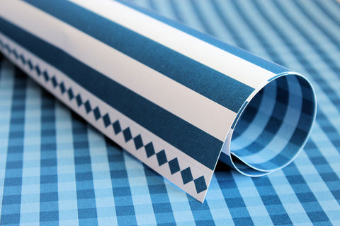 LPP 0029 Basic Essentials Gingham - Dazzling Blue (Was R12 now R10)