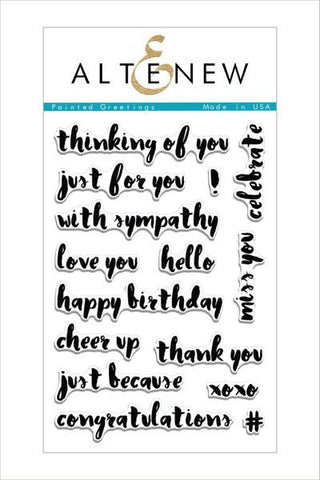 Altenew Painted greetings stamp set