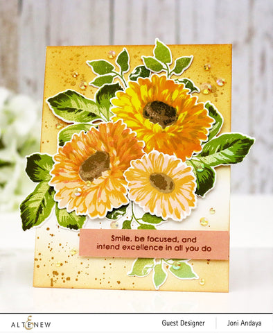 Altenew - Sunflower daisy stamp and die set