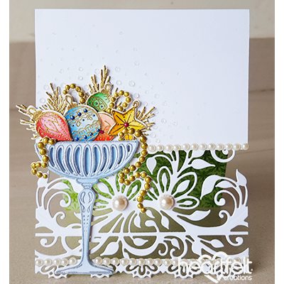 Heartfelt Creations - Merry and bright accents - stamp and dies