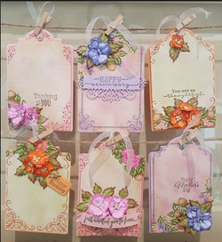 Heartfelt Creations Album tags and accents die set