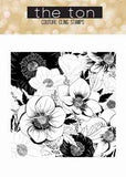 The Ton - Anemone garden - unmounted rubber stamp