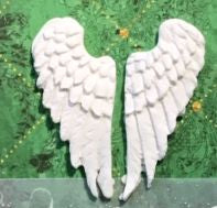 Angel wings made from light-weight clay