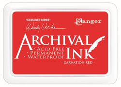 Ranger Archival ink - Carnation red