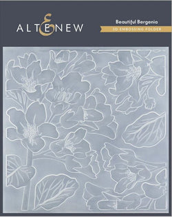 Altenew  - Beautiful bergenia 3D embossing folder