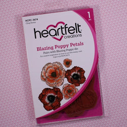Heartfelt Creations - Blazing poppy stamp and die set