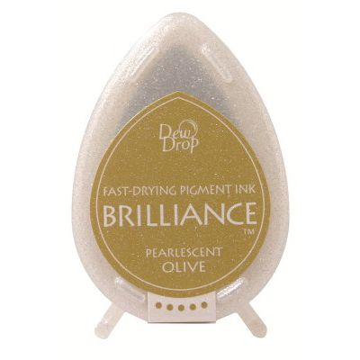 Brilliance dew drop ink pad -  Pearlescent olive