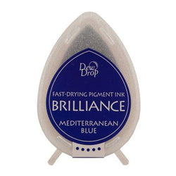 Brilliance dew drop ink pad -  Pearlescent mediterranean blue