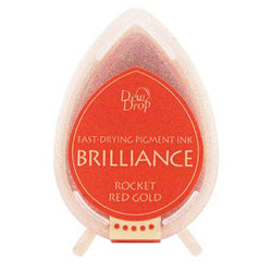 Brilliance dew drop ink pad - Rocket red gold