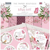 Paper Boutique - Butterfly ballet pack 8x8 papers and sentiment toppers