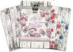 Fabscraps - Life is beautiful card kit A4