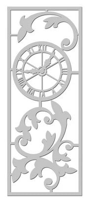 Fabscraps C118 chipboard clock and swirl