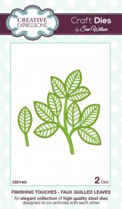 Creative expressions  - Faux quilled leaves CED1403