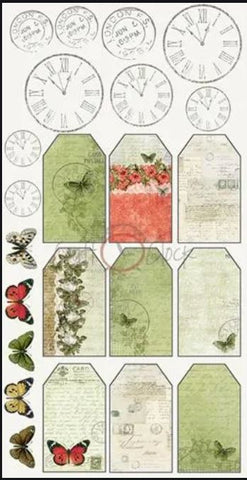Heritage stories - Tags fussy-cut sheet