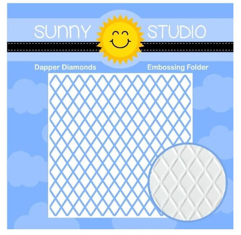 Sunny Studio Dapper diamonds embossing folder