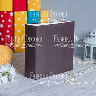 Album 20x20 cm - Soft fabric cover - brown