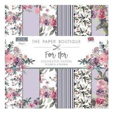 Paper boutique - For her paper pack 6x6
