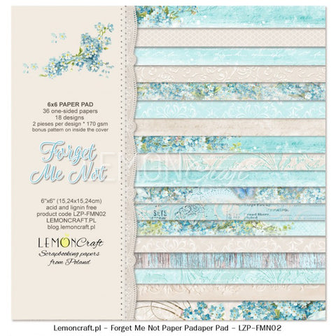 Lemoncraft forget-me-not 6x6 paper pack for cards