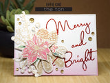 The Ton - Fresh cut poinsettia outline - clear stamps