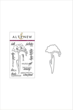 Altenew fresh freesia stamp and die bundle
