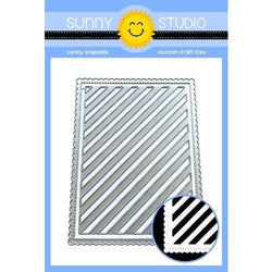 Sunny Studio Frilly frames stripes die set
