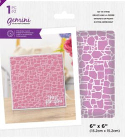 Gemini embossing folder - Set in stone