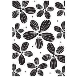 Hampton Art daisies backgroundrubber  stamp