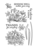 Hero Arts beautiful day agapanthus stamp set