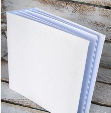 Album 30x30cm hidden hinge with white canvas cover